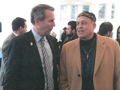U.S. Senator Sherrod Brown, and Dr. Anthoney T. Hodge, Criminologist/Lobbyist