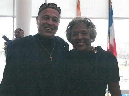 Dr. Tony Hodge With Godsister Joyce Beatty